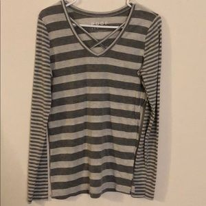 Gray Striped Shirt